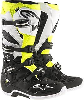 Alpinestars Men's Tech 7 Boots (Black/White/Yellow, Size 16)