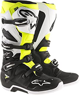 Alpinestars Men's Tech 7 Enduro Boots (Black/White/Yellow, Size 13)