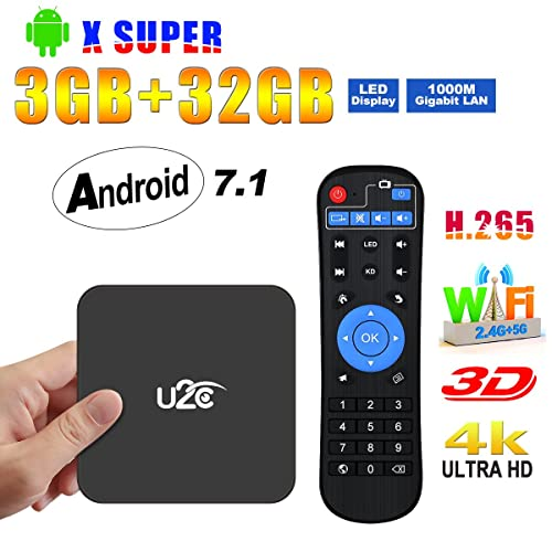 Android TV Box 7.1【3GB RAM+32GB ROM】 2018 Amlogic S912 Octa Core