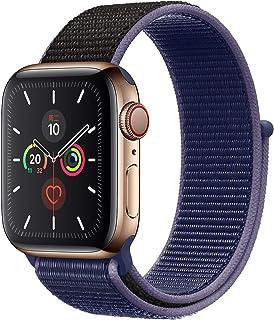 Apple Watch Kordon 38 mm - 40 mm Seri 2 3 4 5 Spor Loop Dokuma Gece Mavisi