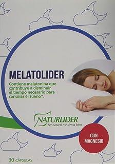Naturlíder Melatolíder - Complemento Alimenticio con Melatonina 1mg. Escutelaria y Magnesio.