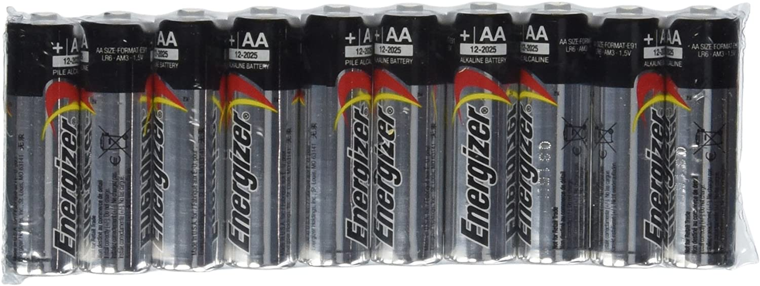 Energizer AA Max Alkaline E91 Batteries Made in USA - 50 count