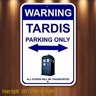 Plates By Jamie Dr Who TARDIS Parking Only Sign 8