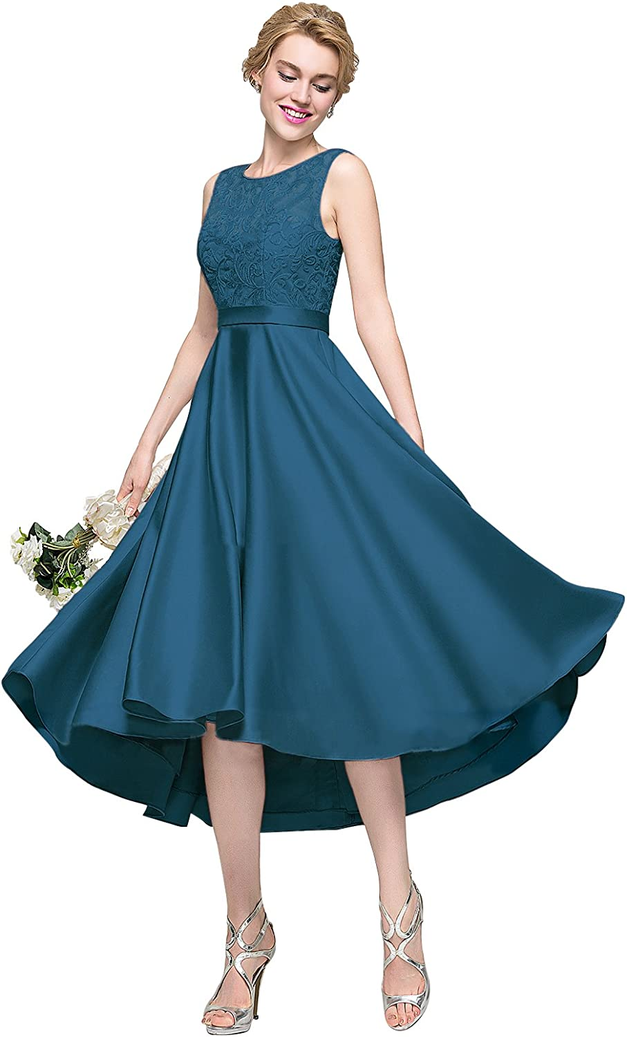 Loffy Lace Applique Junior's Formal Cocktail Homecoming Dresses