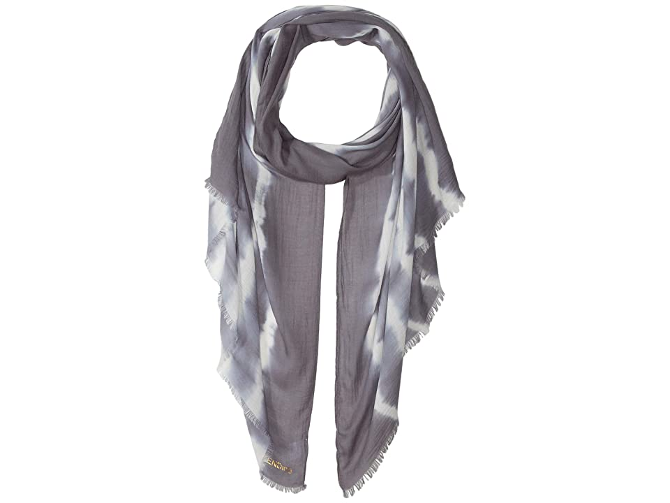 Collection XIIX Tie-Dye Wrap (Grey) Scarves, Gray