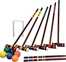 Franklin Sports Outdoor Croquet Set - 6 Player Croquet Set with Stakes, Mallets, Wickets, and Balls - Backyard/Lawn Croque...