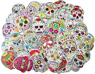 56 Pcs Graffiti Decal Stickers Skull Head DIY Sticker Car Sticker Refrigerator Sticker, Personalize Laptops, Skateboard, Snowboard, Car, Helmet, Luggage, Bikes etc.