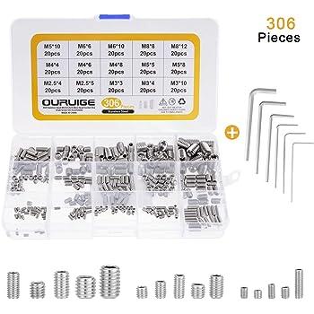 ISO 4026 M6x16 - V2A 50 St/ück - SC913 - aus rostfreiem Edelstahl A2 DIN 913 Gewindestifte mit Kegelkuppe und Innensechskant Antrieb - Madenschrauben