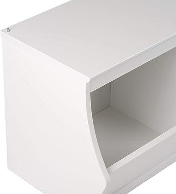 Prepac Monterey Stacked 4-Bin Storage Cubby, White
