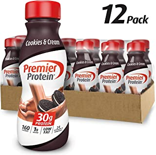 Premier Protein 30g Protein Shake, Cookies & Cream, 11.5 Fl Oz Shake, (Pack of 12)
