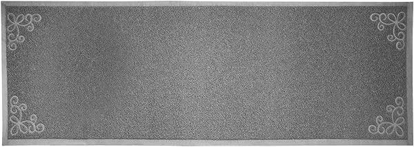 Floor Runners Indoor Outdoor Floor Runner Non Skid Premium 6 X2 100 Rubber PVC Floor Runners Rugs Rubber Backed Kitchen Bath Garage Patio Antibacterial Waterproof Flexible Inside Outside Grey