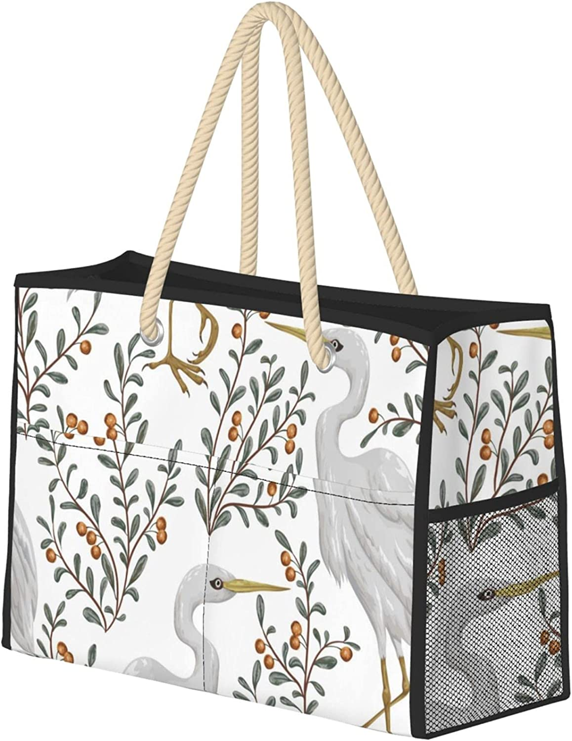 Heron Bird And Cranberry Plant Fixed price for sale Bag Utilit Beach Travel Ranking TOP11 Women