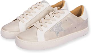 Women's Classic Lace up Low top Star Fashion Sneakers for...