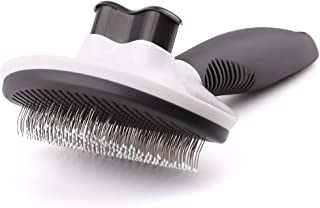 Royale Dog Self Cleaning Slicker Brush for Dogs and Cats, Stainless Steel Pet Grooming Brushes, Pin Hair Shedding Comb wit...