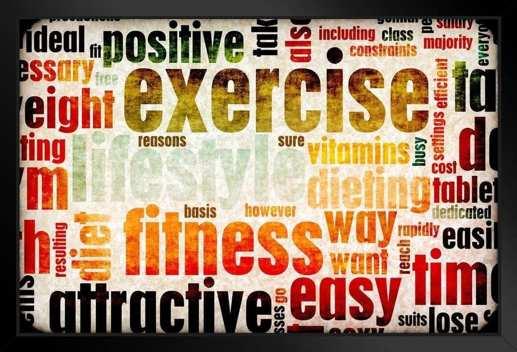 """Gym Training Workout Motivation Home Wall Decor Art Print 36/"""" x 24/"""" LARGE POSTER"""