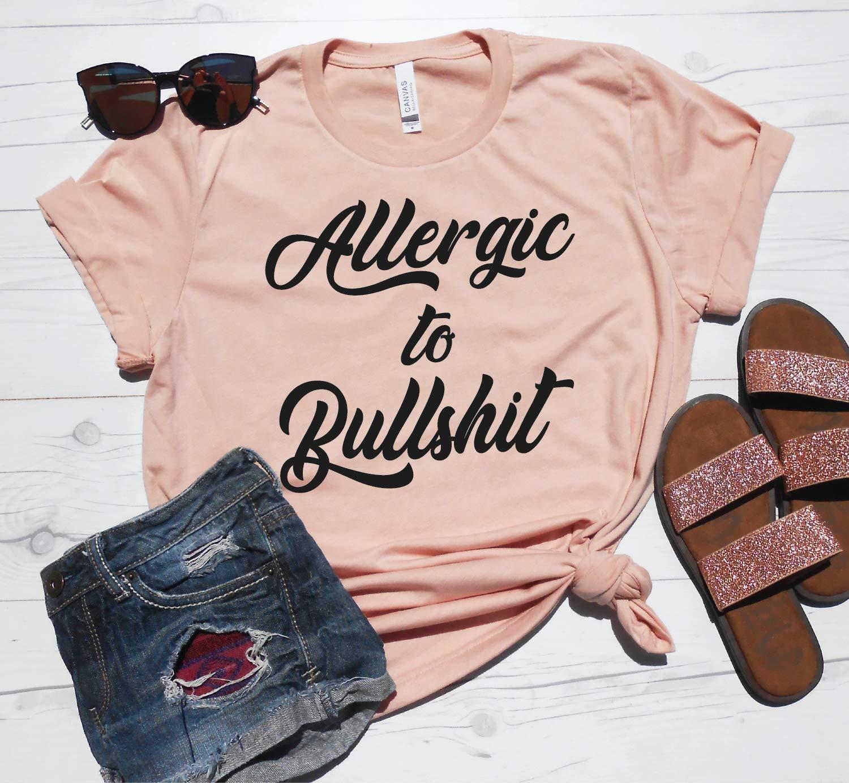 Allergic to Bullshit Miami Super sale Mall Shirt Workout Tshirt Funny