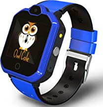 4G GPS Tracker Best Wrist Smart Phone Watch for Kids with Sim Slot Camera Video Chat Fitness Tracker Birthday Holiday for Children Boys Girls iPhone Android Smartphone (Blue)