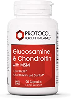 Protocol For Life Balance - Glucosamine and Chondroitin with MSM - 90 Capsules
