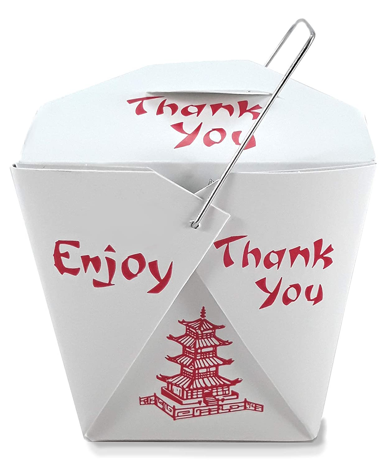 Pack of 25 Chinese Genuine Free Shipping Take Out Boxes F Size Genuine Free Shipping Party 16 Pagoda Pint oz