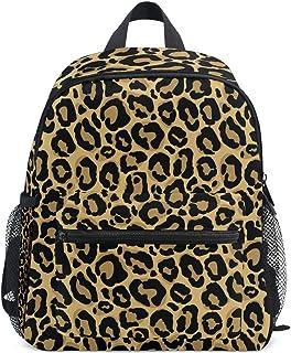 Mochila infantil de viaje para niños y niñas, informal, con estampado de leopardo, para niños y niñas, para guardería, para libros