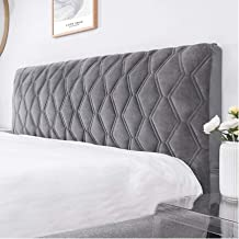 All-Inclusive Headboard Cover Queen Size Bed Headboard Slipcover Protector with Stretch Side and Pocket Dustproof Cotton C...