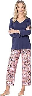 PajamaGram Womens PJs Silky Rayon - Soft Pajamas Set for Women, Pink