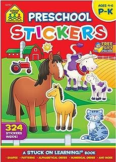 School Zone Sticker Workbook, Get Ready for School Grades P-K
