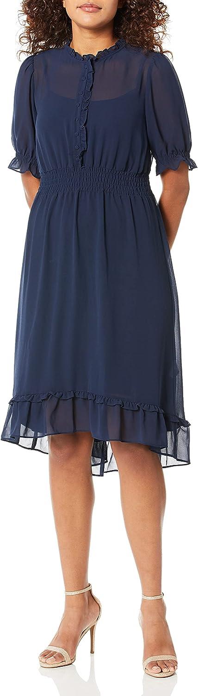 kensie 推奨 Women's 受賞店 Crepe Chiffon Midi Dress
