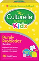 Culturelle Kids Chewable Daily Probiotic for Kids – Natural Berry – Supports Immune, Digestive, and Oral Health – for Age 3+ – Gluten,Dairy,Soy-Free – Packaging May Vary – 30 Count
