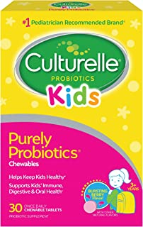 Culturelle Kids Chewable Daily Probiotic for Kids - Natural Berry - Supports Immune, Digestive, and Oral Health - For Age ...