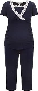 Maternity Pajamas - Nursing Pajamas - Short Sleeves-Legs -Pregnancy and Breast-Feeding - German Brand - 2500_2600