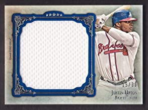 2013 Topps Five Star Baseball Jumbo Jersey Blue #JU Justin Upton 15/30 Atlanta Braves