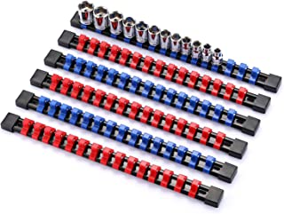 Yosoo Stainless Steel 8 Positions Socket Rack Storage Rail Tray Holder Tool Stand Shelf Organizer