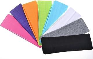 lasenersm 6Pcs Soft Stretch Elastic Yoga Cotton Headbands Hair Wrap Accessories for Teens Women Girls Sports Teams Head Band