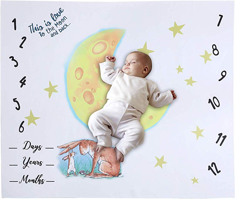 Monthly Baby Milestone Blanket For Capturing Precious Newborn Memories 40 X40 Monthly Photo Blanket With Original Design Perfect Baby Shower Gift