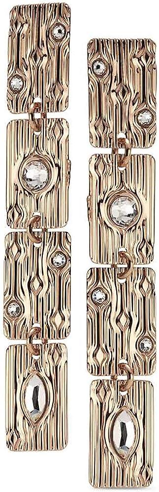 Boccadamo, orecchini pendenti per donna,in bronzo placcato oro giallo di ispirazione egiziana e swaronski XOR480RS