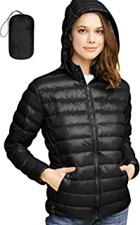 Women's Ultra Light Weight Packable Down Jacket with Removable Hoodie