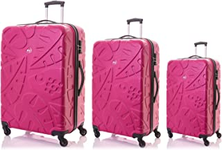Kamiliant by American Tourister Pinnado Hardside Spinner Luggage Set of 3, with TSA Lock - Magenta