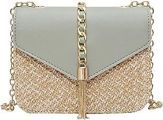 Wshizhdfuwstb Tote Bag for Women, Ladies Tassel Style Messenger Bags, Ladies Cursory Shuck Woven Handbags, Ladies Fashion ...