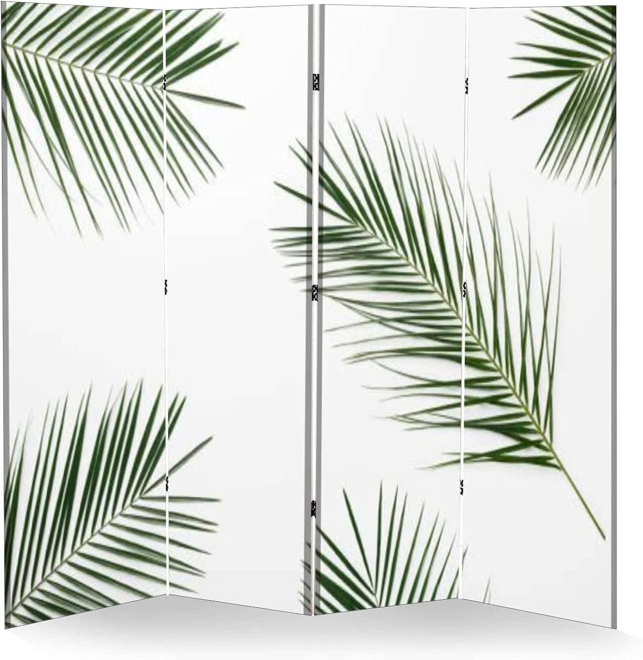 4 Panel Wall Divider Green Leaves Compositio Decorating for Palm Sales Houston Mall