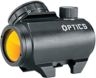 Bushnell AK Optics AK25 1x25mm Red Dot Sight, Matte Black (tilted front lens)