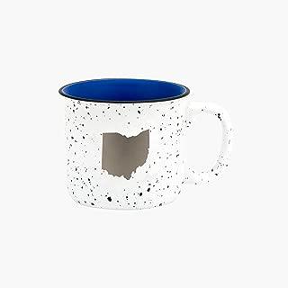 Ohio Silhouette In Silvertone 13.5 oz Ceramic Mug