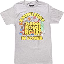 Ripple Junction Schoolhouse Rock Knowledge is Power Logo Group Adult T-Shirt