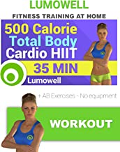 500 Calorie Total Body HIIT Workout + AB Exercises - No equipment