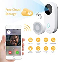 Smart Video Doorbell, Famisafe 960P HD WiFi Security Camera Doorbell with Chime, Real-time HD Video Doorbell, 2-Way Audio, Free Cloud Service, Night Vision and Works with Alexa, APP for iOS Android