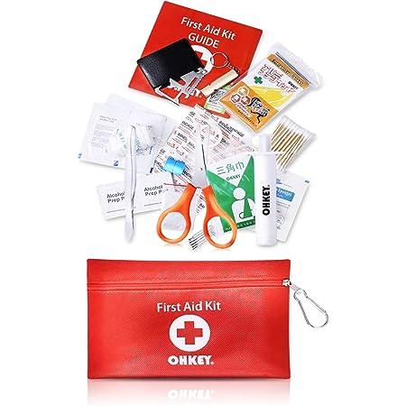 OHKEY 救急セット ファーストエイド キット ポイズンリムーバー 登山 アウトドア 防災 救急箱 小型