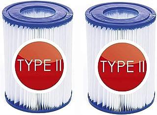 GAODA Filtro de piscina tipo 2, para filtros Bestway 58094 de cartuchos de filtro tamaño II, diámetro de 10,6 cm, altura 13,6 cm, bombas de piscina filtro cartucho filtro cartucho cartucho de filtro