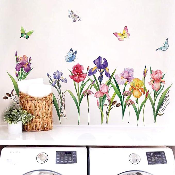 146 opinioni per decalmile Adesivi Murali Giardino Fiore Adesivi da Parete Narciso Iris Floreale