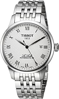 Tissot mens Le Locle Stainless Steel Dress Watch Grey T0064071103300