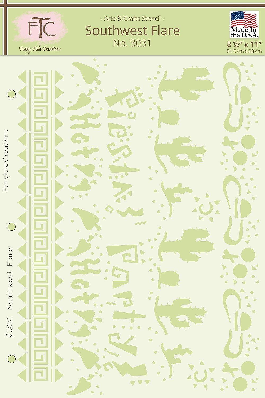 Fairytale Creations Southwest Flare Schablone, 21,6 cm cm cm L x 27,9 cm H B016NK58BQ     | Ausgezeichnetes Preis  258e02